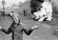 A boy holds a stone during a disturbance, Belfast, Ireland, 1978 Chris Steele-Perkins 